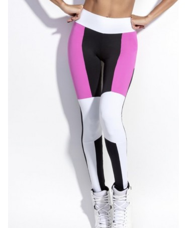 Leggings WHITE AND HOT PINK...