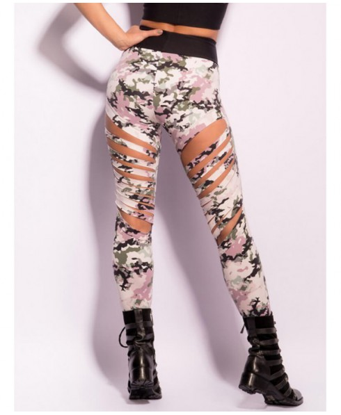 65fc975dcc2250 Leggings camouflage ripped Superhot in suppplex 320; the average  compressive, shapes the buttocks and flattens the tummy. The Leggings  military hides ...