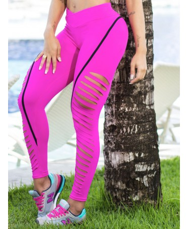 Leggings LASER CUT FUCHSIA...
