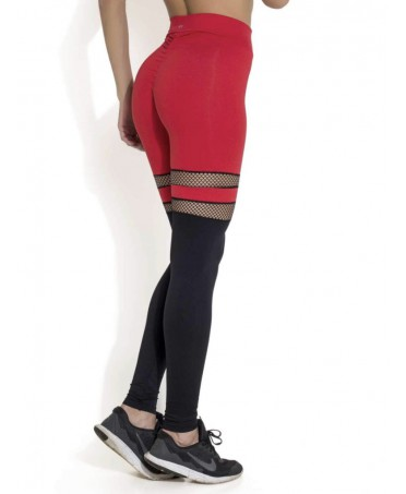 LEGGINGS PUSH-UP RED WITH...