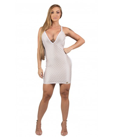 DRESS IN A NETWORK WHITE...