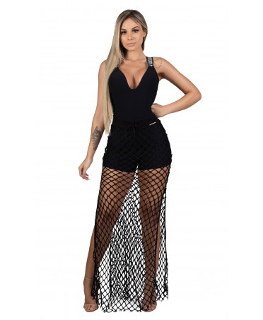 JUMPSUIT WITH OVERLAY SKIRT...