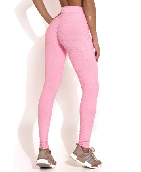 95b7a7052f711 Leggings pink puh up Canoan in supplex worked in relief. This leggings  push-up is very elegant and romantic both for the color and for working in  relief.