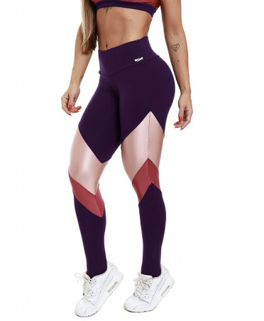 LEGGINGS GYM NERO ROSA E FUXIA GALAXY ZNG