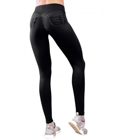 LEGGINGS PUSH-UP BLACK WITH...
