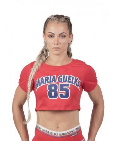 T-SHIRT-SHORT-RED MARIA GUEIXA