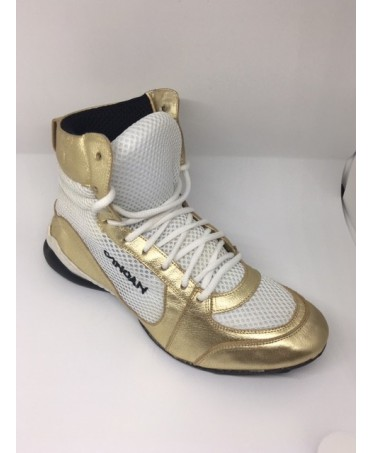 e6046a9f114 GYM SHOES FOR WOMEN WHITE-GOLD CANOAN