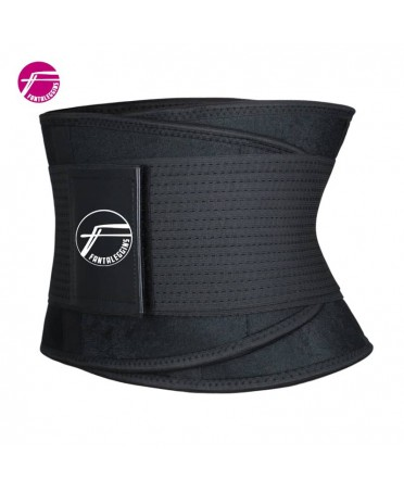 CORSET SOSTENITIVO BLACK UNISEX HARD IN NYLON, WAIST BELT TRAINERS, BELT BODY SHAPER BLACK