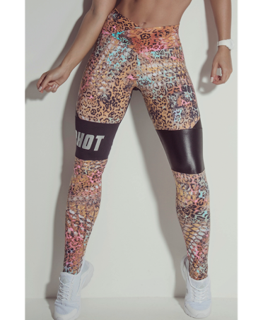 LEGGINGS STAMPA FELINA SUPERHOT