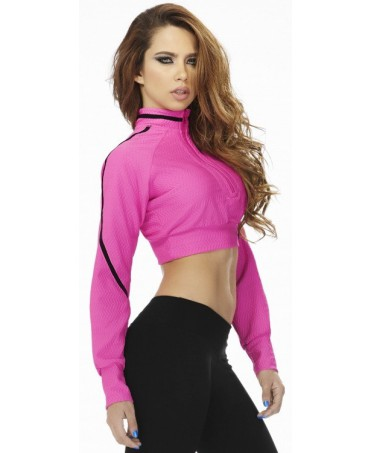 giacca sportiva corta babalu' a manica lunga. on line store fitness wear for woman