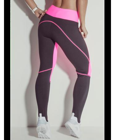 pantalone sportivo aderente fuxia e nero in tecnologia all'avanguardia.fantaleggins.com