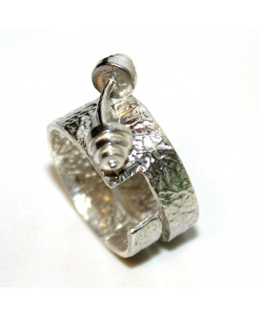 ADJUSTABLE RING IN SILVER...